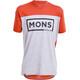 Mons Royale M's Redwood V Box Logo T-Shirt Burnt Orange/Grey Marl